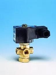 Válvula solenóide d 3 vias para uso pneumático hidráulico