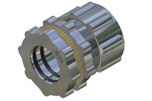 Conexão para filtro de manga 2 vias