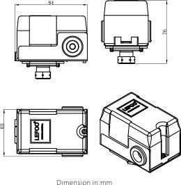 Desenho dimensional SÉRIE LFDS630