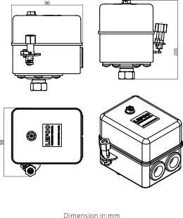 Desenho dimensional SÉRIE LF17