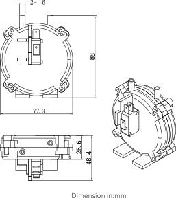 Desenho Dimensional Pressostato LF30
