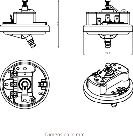 Desenho dimensional SÉRIE LF32-MOD